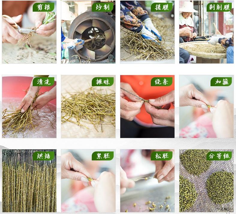 霍山石斛制作工序